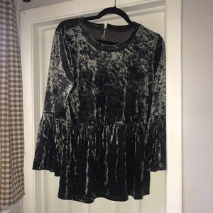 Tops - Empire waist crushed velvet shirt